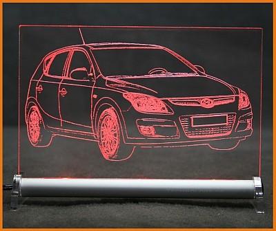 Hyundai i30 LED Leuchtschild