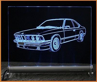 BMW 6 E24 LED Leuchtschild
