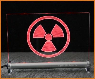 Radioaktiv LED Leuchtschild