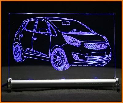 Kia Venga LED Leuchtschild