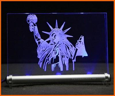 Liberty Freiheitsstatue LED Leuchtschild