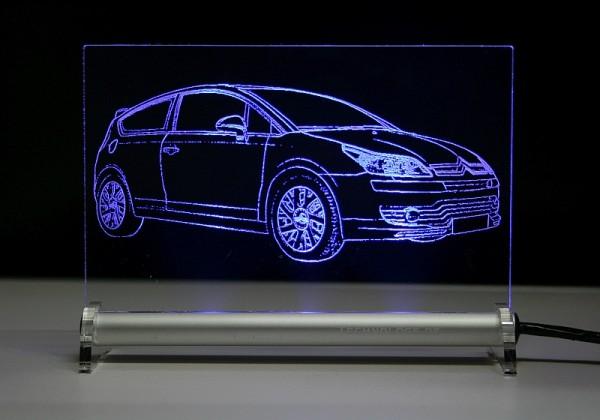 Citroën C4 Coupe LED Leuchtschild