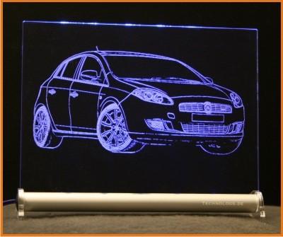 Fiat Bravo Nuova LED Leuchtschild