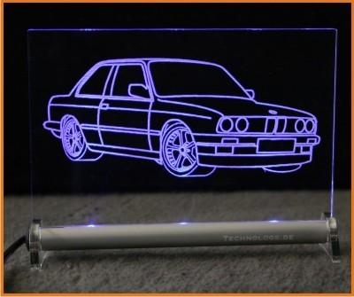BMW 3 E30 Limousine LED Leuchtschild