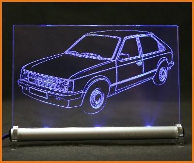 Opel Kadett D 3-T LED Leuchtschild