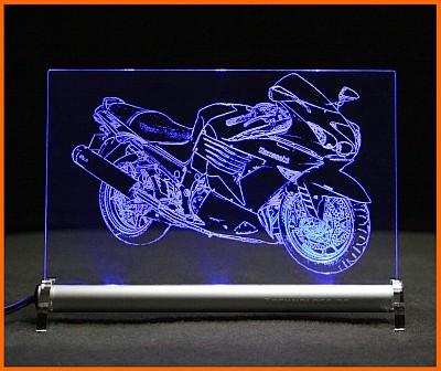 Kawasaki ZZR 1400 LED Leuchtschild