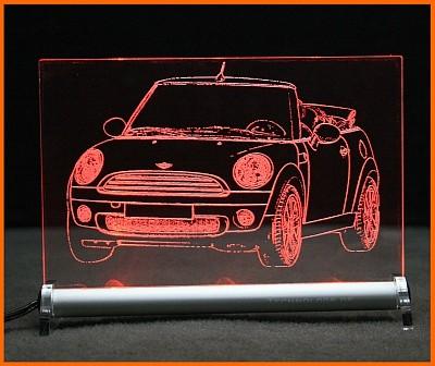 Mini Cabrio LED Leuchtschild