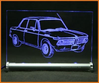 BMW 1600-2 Alpina LED Leuchtschild